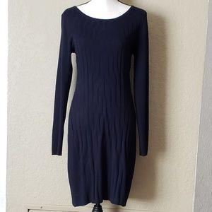 Ivanka Trump cotton knit sweater dress EUC